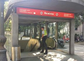 La estación de Recoletos, una hora sin servicio