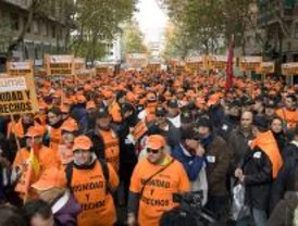 Cientos de militares protestan contra la Ley de Carrera Militar