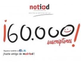 Notiweb alcanza 60.000 suscriptores