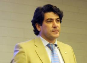 El alcalde de Alcorcón David Pérez, tambien presidente de la Federacion de Municipios en un acto de la CEIM