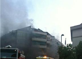 Incendio en pleno centro de Las Rozas