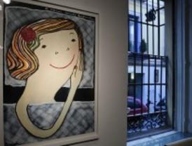 Pintura optimista en la exposición 'Una cabeza sembrada', de Eva Armisén