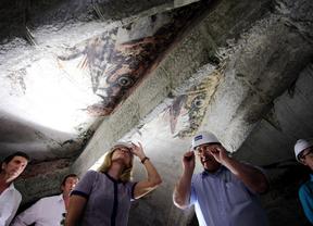 Recuperados 76 dragones pintados hace más de cinco siglos, ocultos en una iglesia de Robledo de Chavela