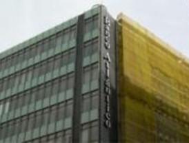 Incendio en las oficinas del Banco Atlántico, en Gran Vía