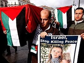 Centenares de manifestantes protestan por el ataque israelí a la Flotilla de la Libertad