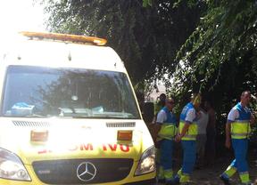 Una ambulancia del Summa en el lugar de los hechos