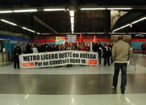 Normalidad en la huelga de Metro Ligero Oeste
