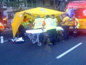 Atropellan a un hombre que se encontraba tumbado en mitad del Paseo de las Delicias