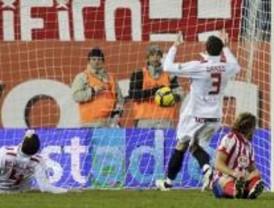 El Atlético vence en el último minuto al Sevilla