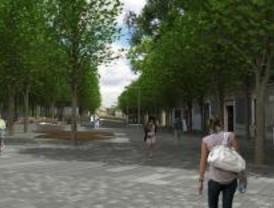 Polígonos verdes en la Plaza de Santa Bárbara