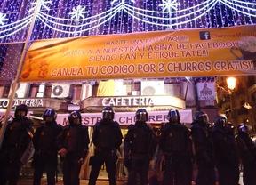 Antidisturbios durante la protesta 'Rodea el Congreso'
