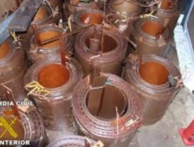 Seis detenidos por robar 280 metros de cable de cobre de líneas ferroviarias