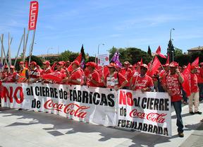 Trabajadores de Coca-Cola aprovechan la final para manifestarse en Lisboa en protesta por el ERE