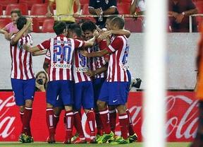 Atlético de Madrid. Los 'rojiblancos' celebran un gol