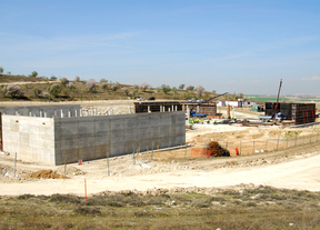El depósito de agua de Valdemoro, en octubre