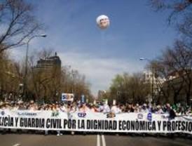 Miles de policías nacionales se manifiestan en Madrid