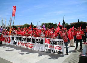 Disturbios en el desalojo de la fábrica de Coca-Cola en Fuenlabrada