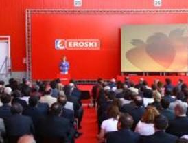 Aguirre inaugura una nueva plataforma de Eroski en Madrid