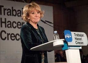 Esperanza Aguirre, en el Palacio Municipal de Congresos de Madrid.