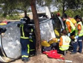 Dos heridas tras un accidente en la M-607