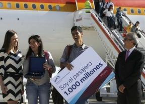 Alonso Fernández Ortiz, a su llegada a Barajas.
