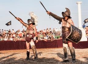 Los gladiadores tienen una cita en la feria Medieval de El Álamo