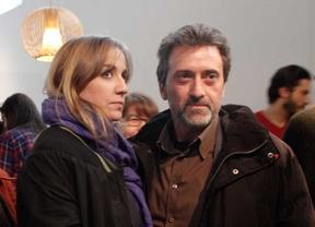 Tania Sánchez y Mauricio Valiente, en la presentación del partido instrumental de Podemos y Ganemos.