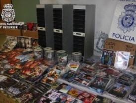 Cinco detenidos por pirateria audiovisual en Lavapiés