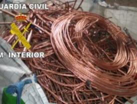 Recuperan 80 toneladas de cable de cobre