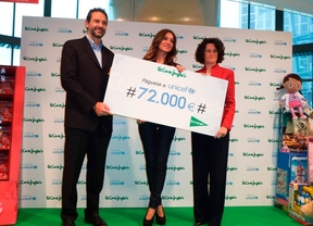 El Corte Inglés dona 72.000 euros a UNICEF