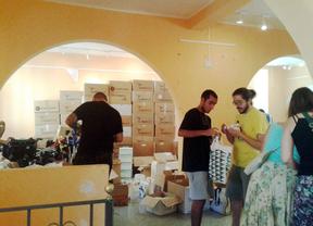 Miles de kilos de medicamentos, listos para enviar a Gaza