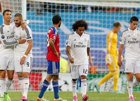El Real Madrid se consuela goleando al Basilea