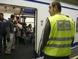 El personal de apoyo de Metro en la línea 6, 'sin trabajo' en su primera jornada
