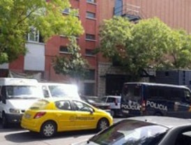 Desalojo del edificio 'okupado' La Cantera, en Vicálvaro
