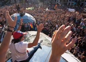 Asamblea masiva en el segundo aniversario del movimiento 15-M.