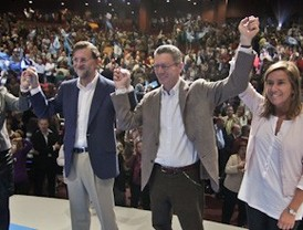 Aguirre y Gallardón cierran filas para llevar a Rajoy hasta la Moncloa