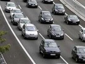 Nivel amarillo en la carretera de Andalucía a su paso por Pinto