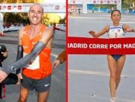 Teresa Pulido y Chema Martínez ganan la carrera por Madrid