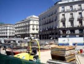 Las obras en la Puerta del Sol continuarán hasta abril de 2009