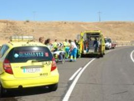 Un motorista grave tras sufrir un accidente en la M-118