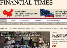 La huelga de limpieza viaria en Financial Times
