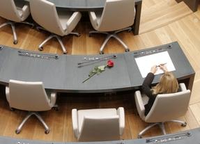 Los concejales se despiden de Zerolo dejando una rosa en su escaño