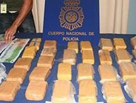 La Policía desarticula un grupo de narcotraficantes y se incauta de 28 kg de heroína