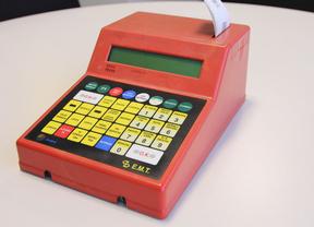 Antigua consola expendedora de billetes de la EMT