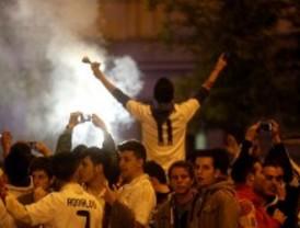 Trece heridos durante la celebración en Cibeles