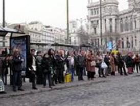 Octava jornada de huelga de autobuses