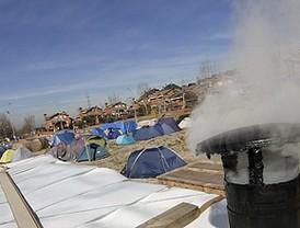 Retiran la luz, el agua y el aseo al campamento de los cooperativistas de La Tenería