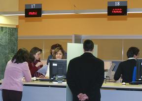 La gran oficina administrativa
