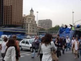 Cortes en el centro de Madrid por la marcha del Festival VivAmérica