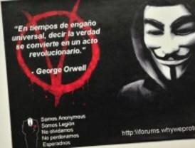 Los 'anonymous' de Gallardón se manifestarán el 31-M
